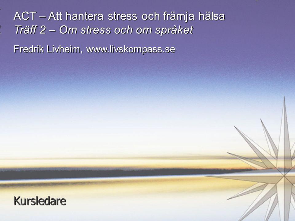 ACT – Att hantera stress och främja hälsa