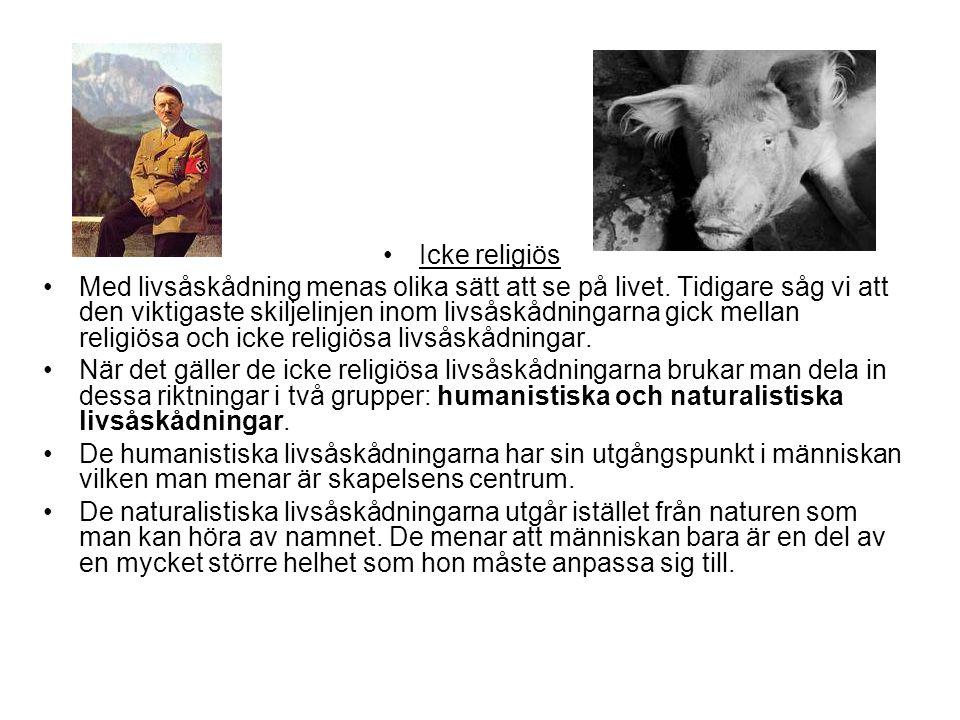 Icke religiös