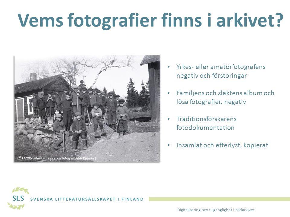 Vems fotografier finns i arkivet