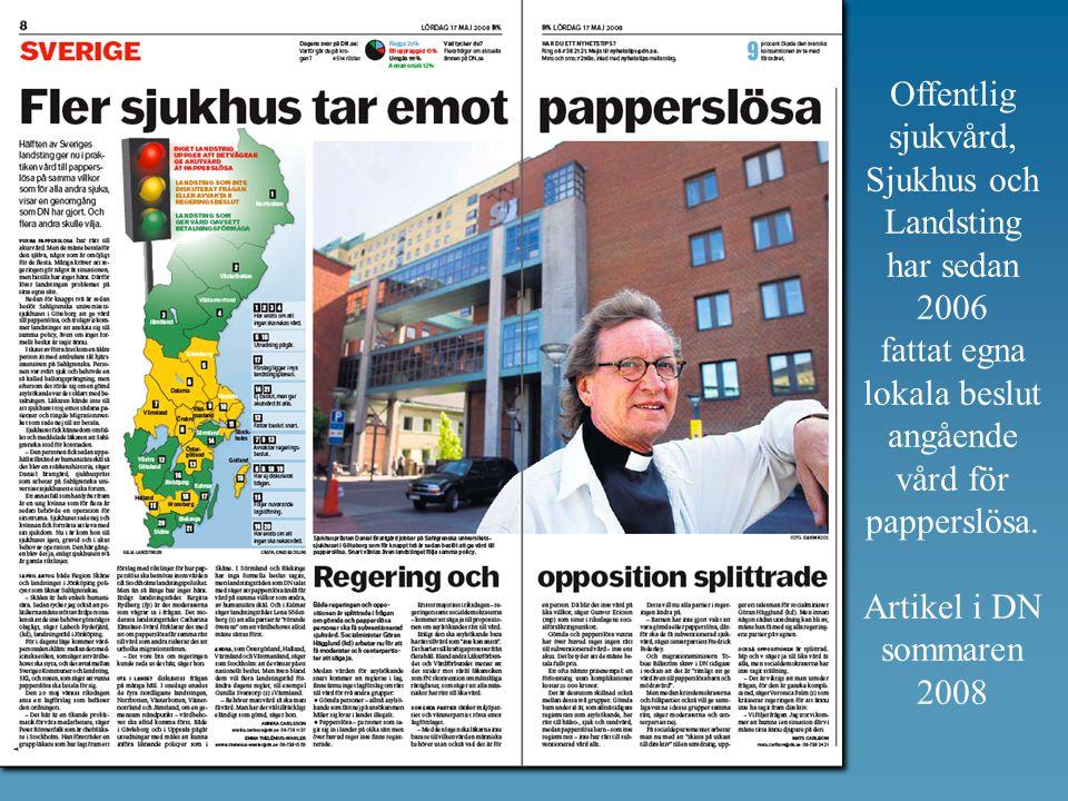 Offentlig sjukvård, Sjukhus och Landsting har sedan 2006 fattat egna
