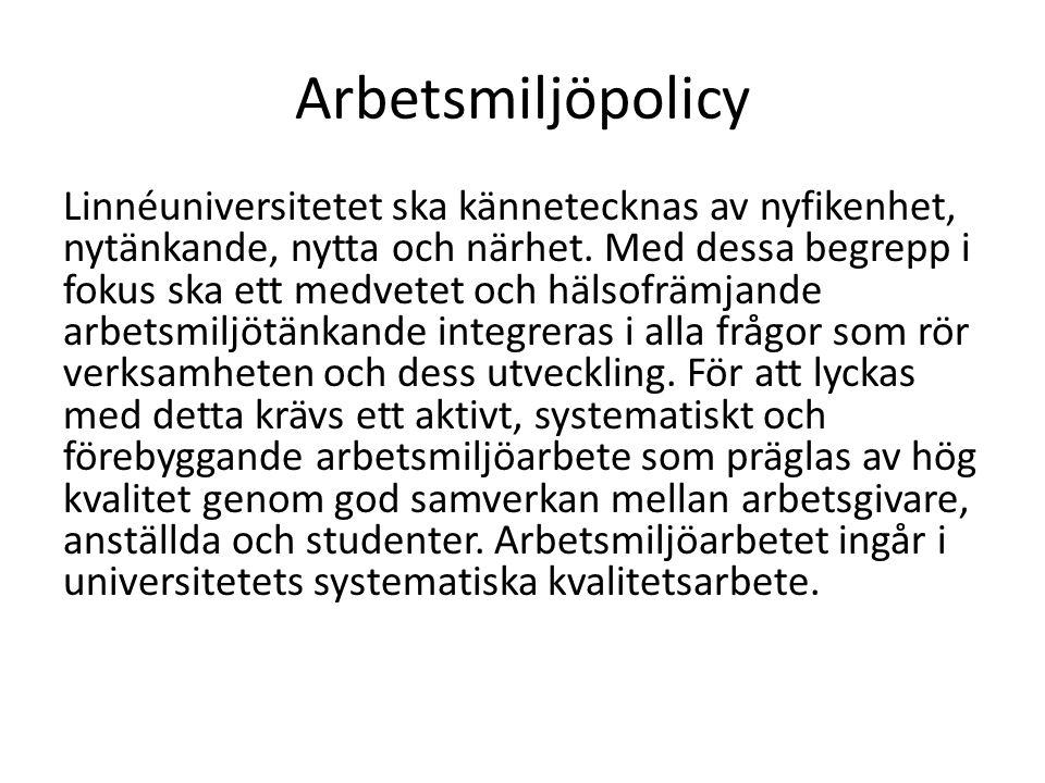 Arbetsmiljöpolicy