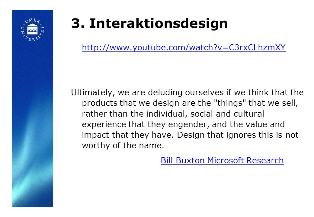 3. Interaktionsdesign