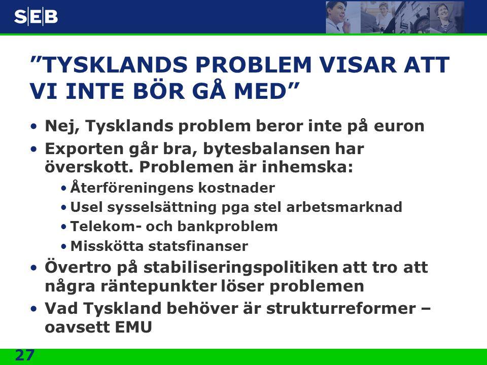 TYSKLANDS PROBLEM VISAR ATT VI INTE BÖR GÅ MED