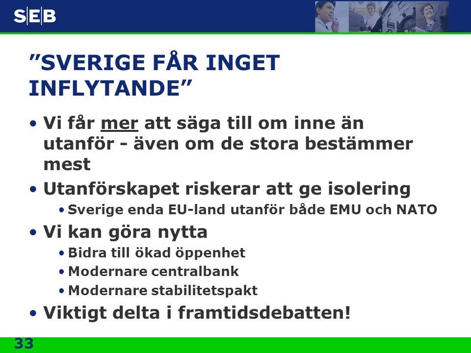 SVERIGE FÅR INGET INFLYTANDE