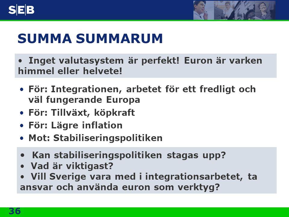 SUMMA SUMMARUM Kan stabiliseringspolitiken stagas upp