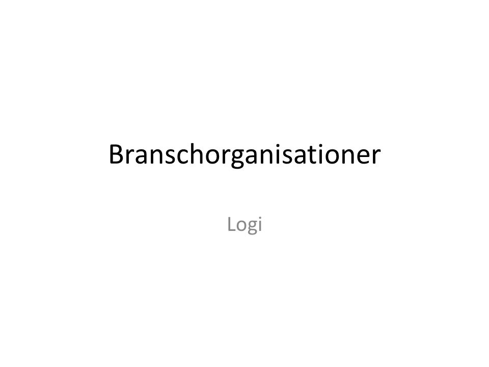 Branschorganisationer