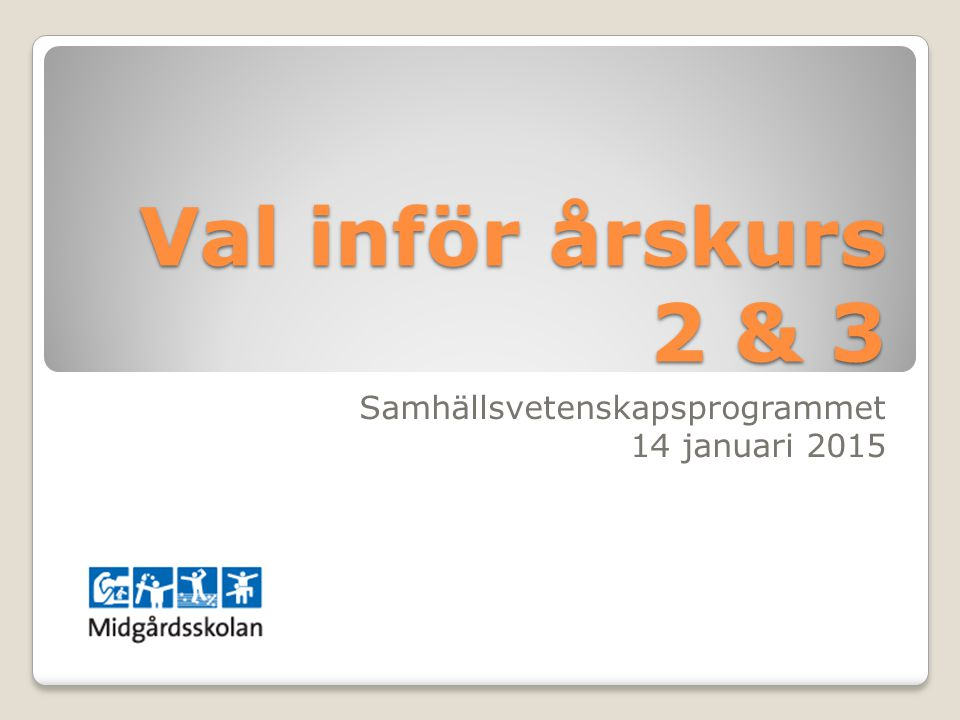 Samhällsvetenskapsprogrammet 14 januari 2015
