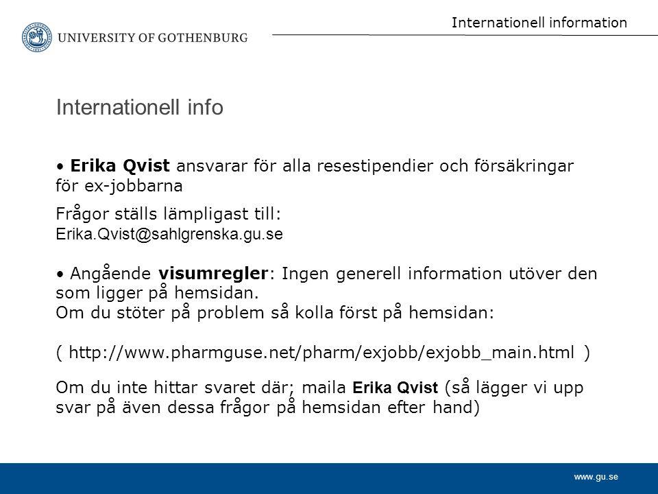 Internationell information