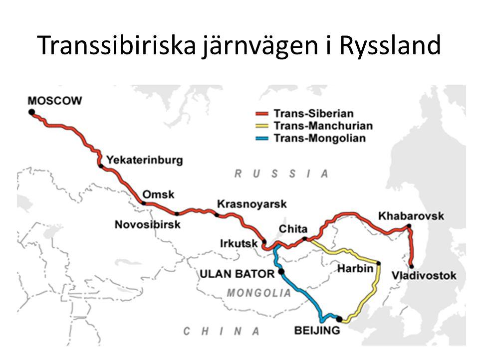 Transsibiriska järnvägen i Ryssland