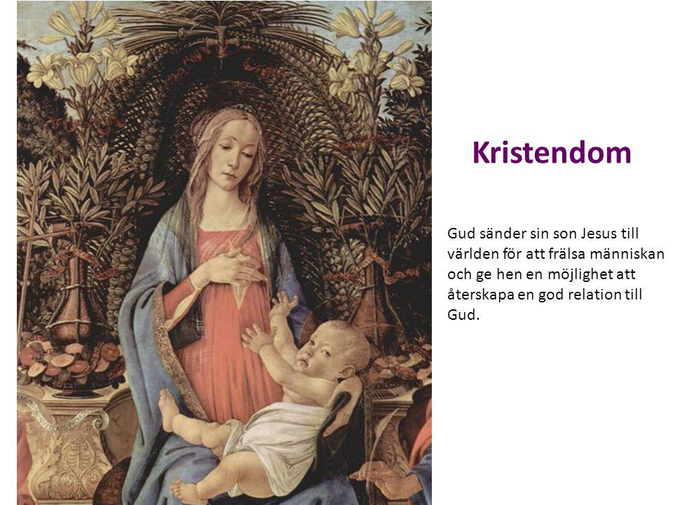 Kristendom Gud sänder sin son Jesus till