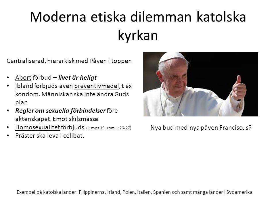 Moderna etiska dilemman katolska kyrkan