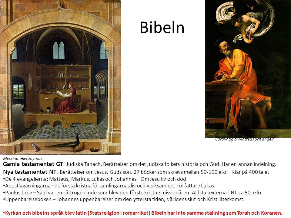 Bibeln Caravaggio: Matteus och ängeln. Messina: Hieronymus.