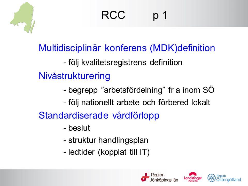 RCC p 1 Multidisciplinär konferens (MDK)definition