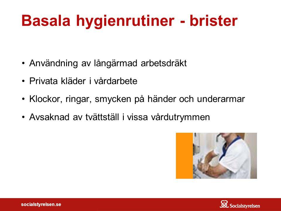 Basala hygienrutiner - brister