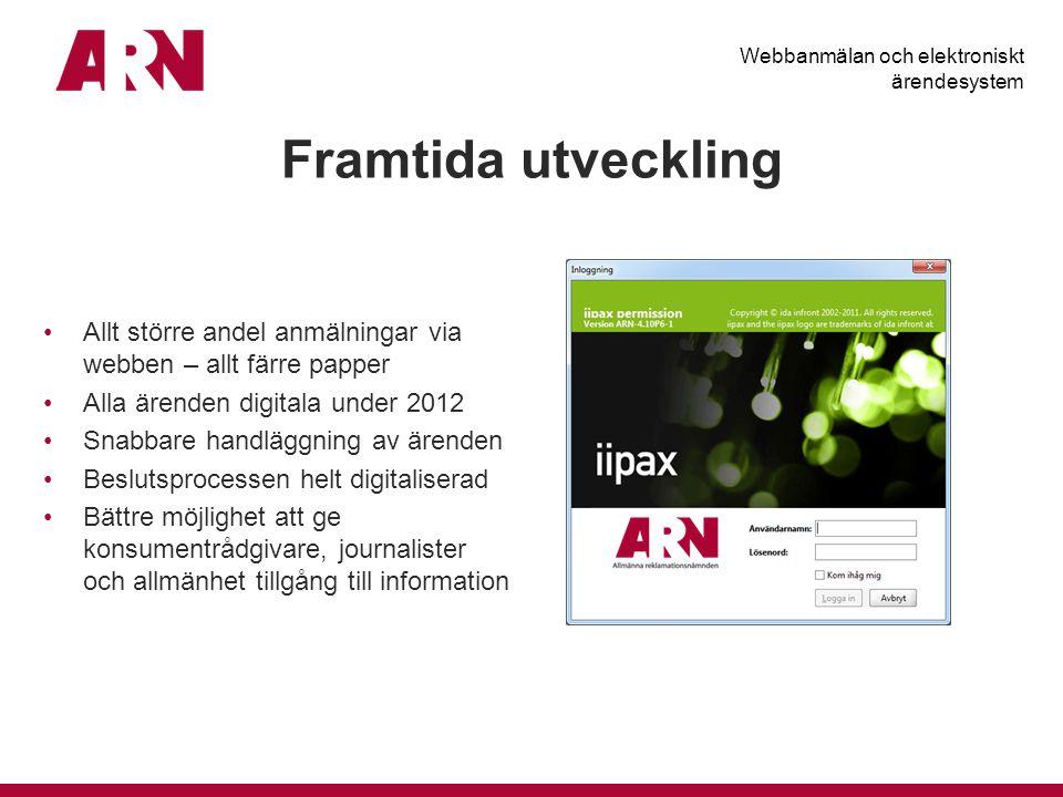 Webbanmälan och elektroniskt ärendesystem
