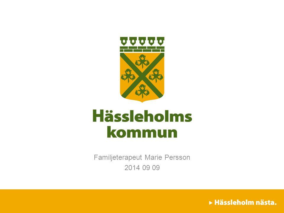 Familjeterapeut Marie Persson 2014 09 09