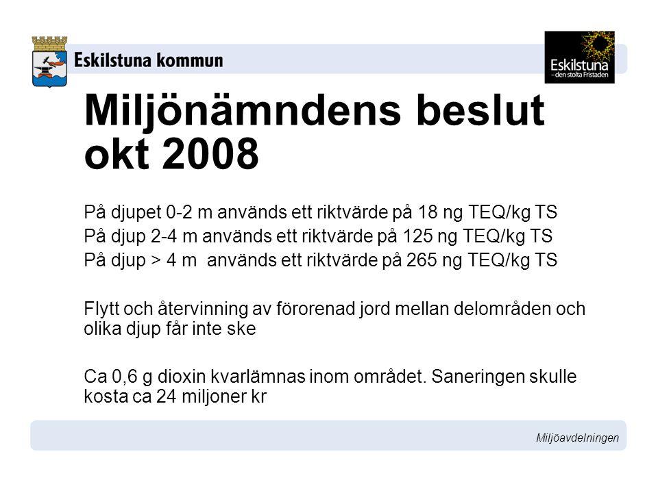 Miljönämndens beslut okt 2008