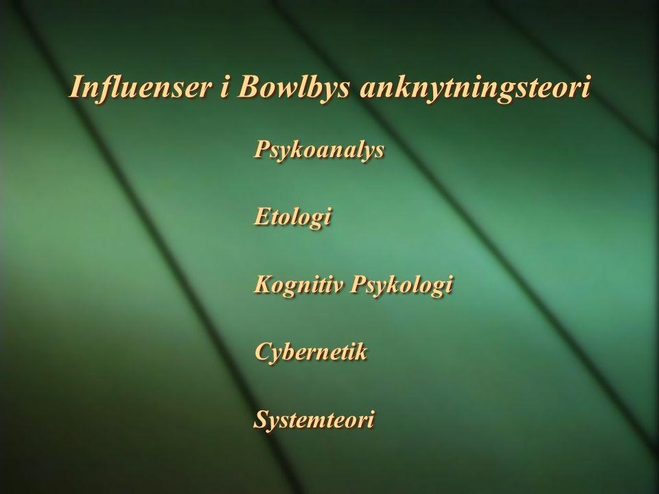 Influenser i Bowlbys anknytningsteori