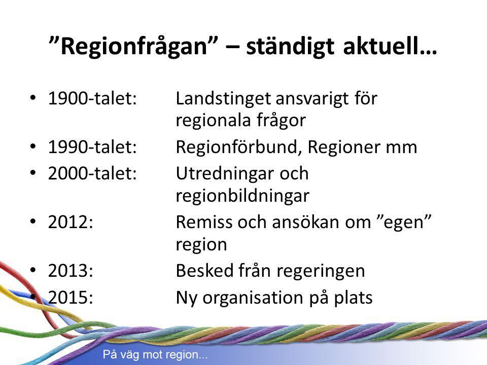 Regionfrågan – ständigt aktuell…