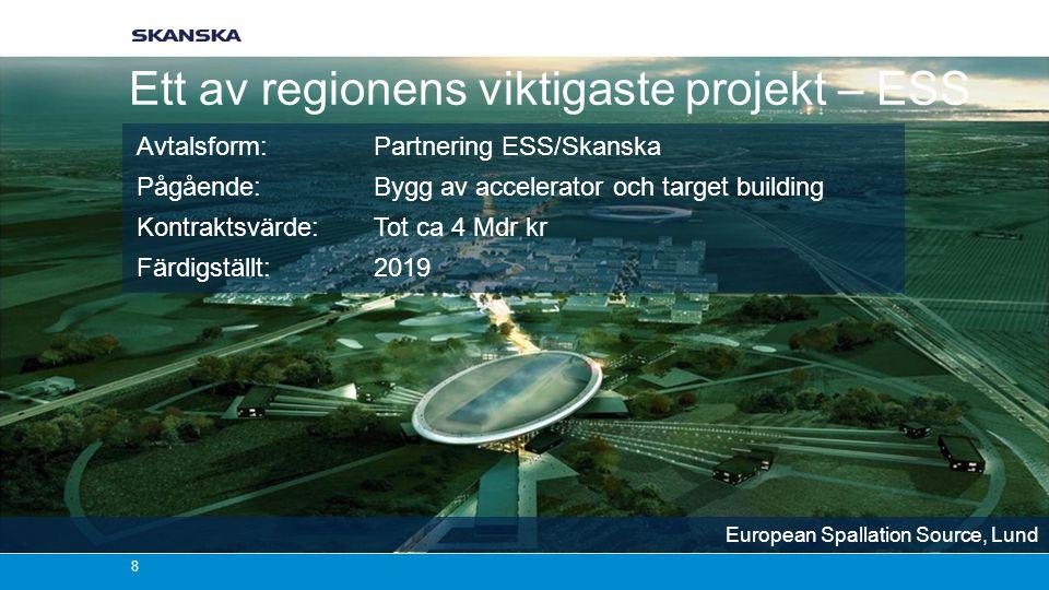 Ett av regionens viktigaste projekt – ESS