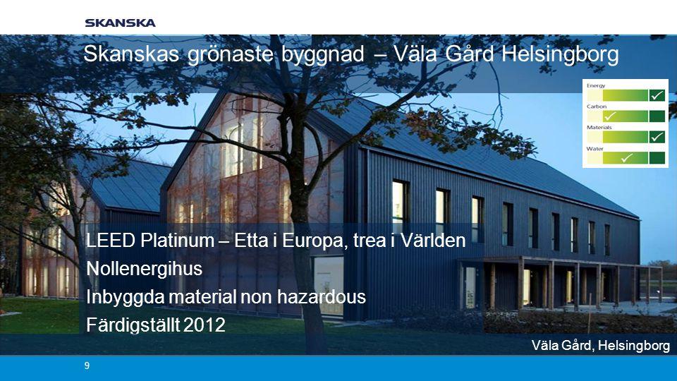 Skanskas grönaste byggnad – Väla Gård Helsingborg