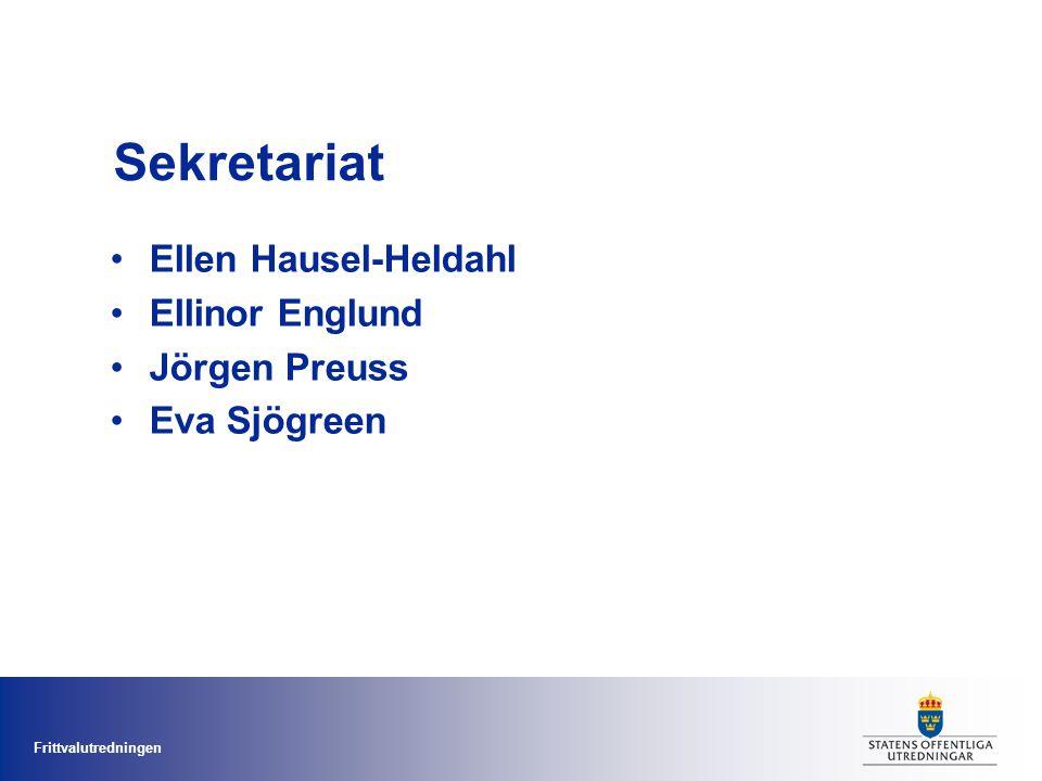 Sekretariat Ellen Hausel-Heldahl Ellinor Englund Jörgen Preuss