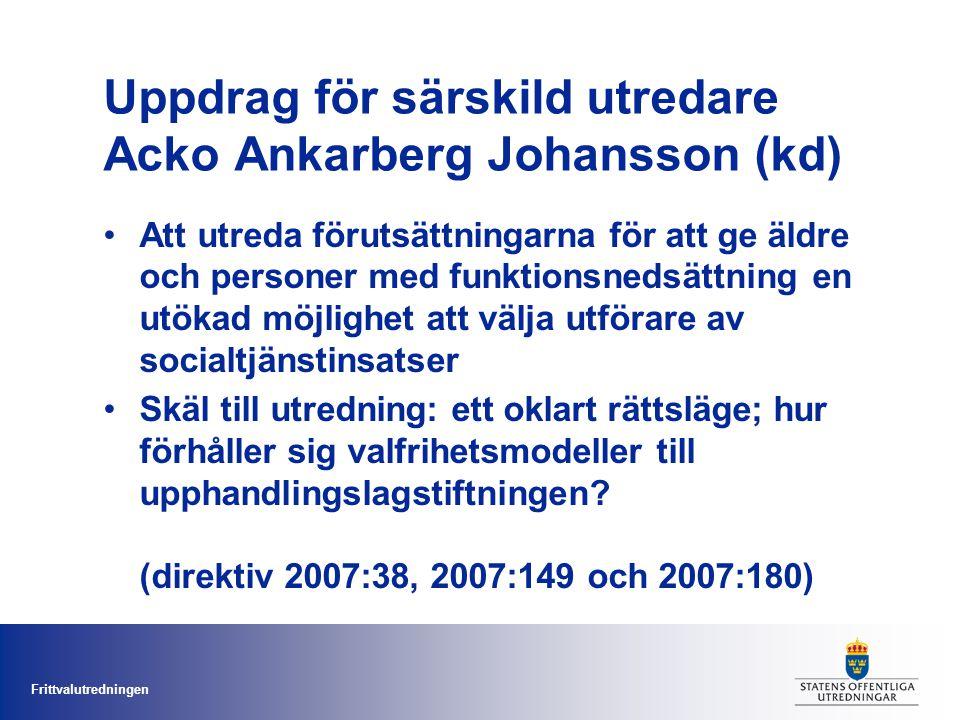 Uppdrag för särskild utredare Acko Ankarberg Johansson (kd)