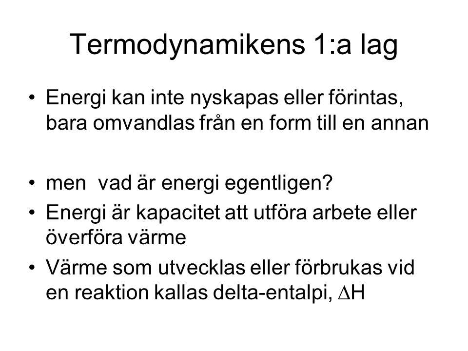 Termodynamikens 1:a lag