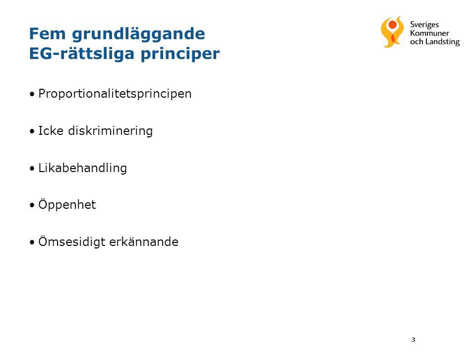 Fem grundläggande EG-rättsliga principer