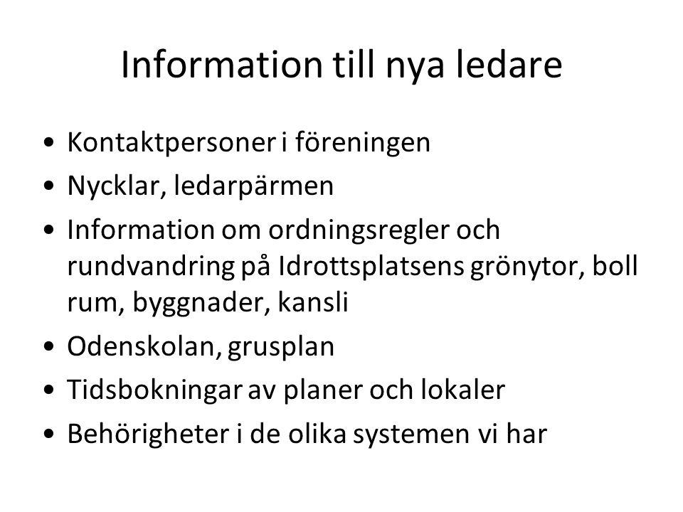 Information till nya ledare