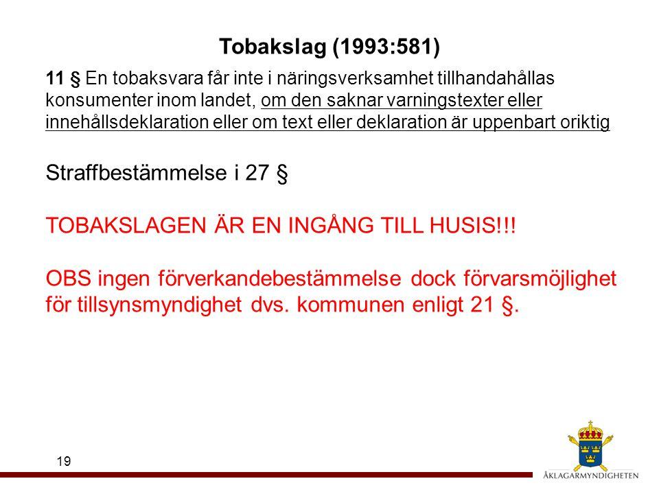TOBAKSLAGEN ÄR EN INGÅNG TILL HUSIS!!!