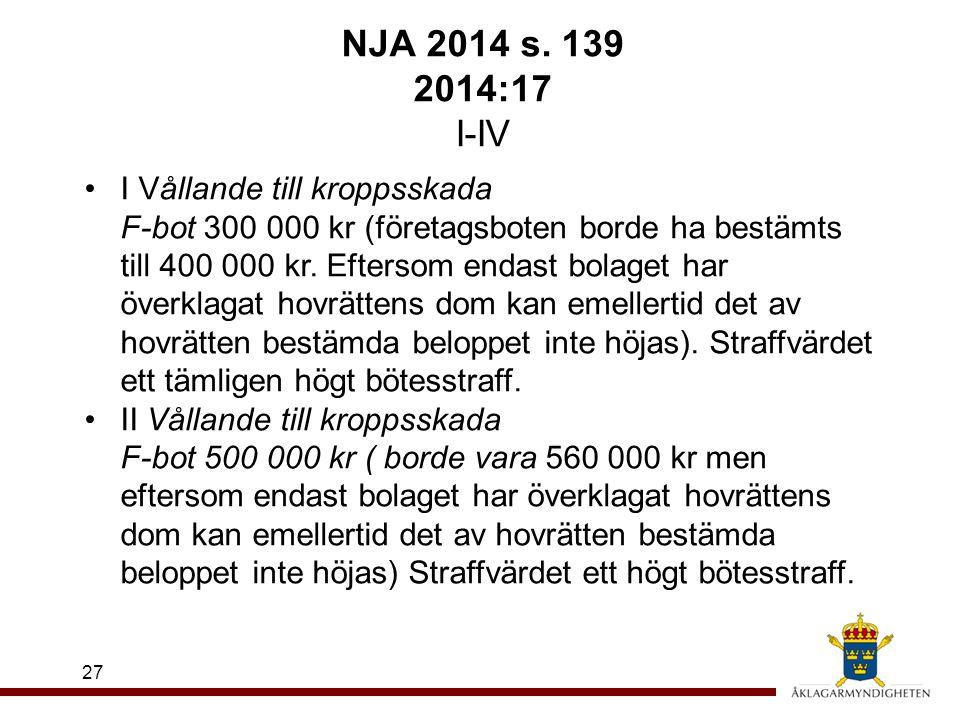 NJA 2014 s. 139 2014:17 I-IV
