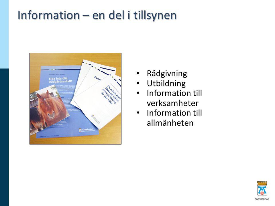 Information – en del i tillsynen