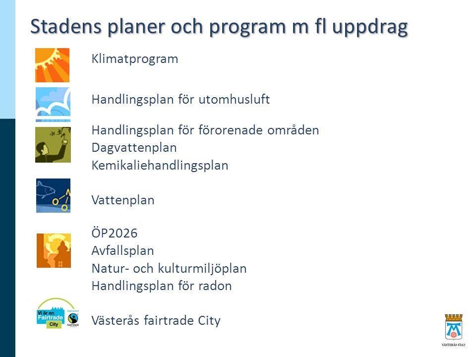 Stadens planer och program m fl uppdrag