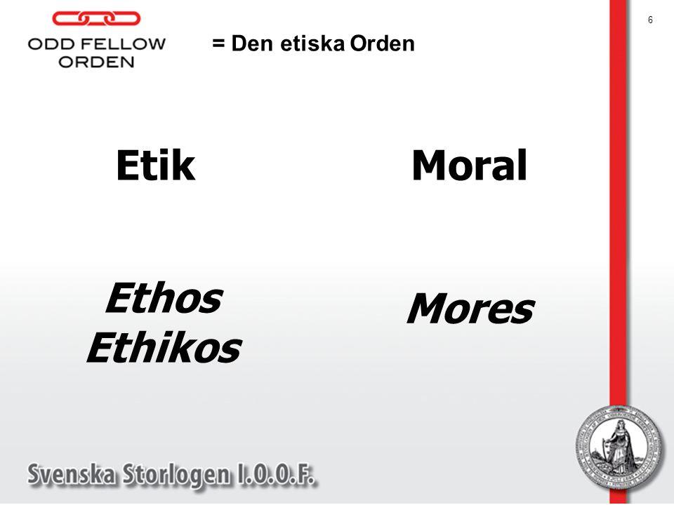 Etik Moral Ethos Ethikos
