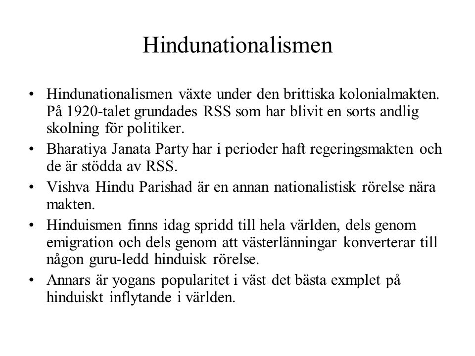 Hindunationalismen