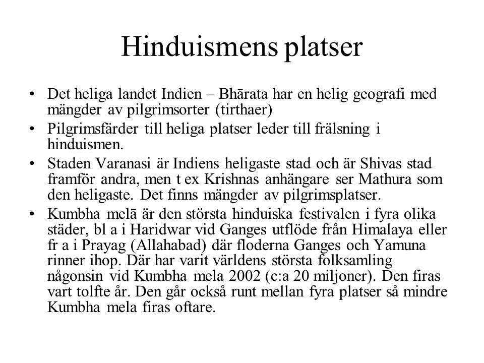 Hinduismens platser Det heliga landet Indien – Bhārata har en helig geografi med mängder av pilgrimsorter (tirthaer)