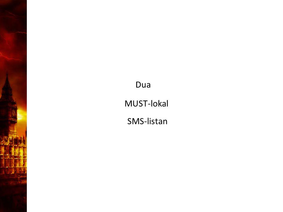 3. Delandet av månen Dua MUST-lokal SMS-listan