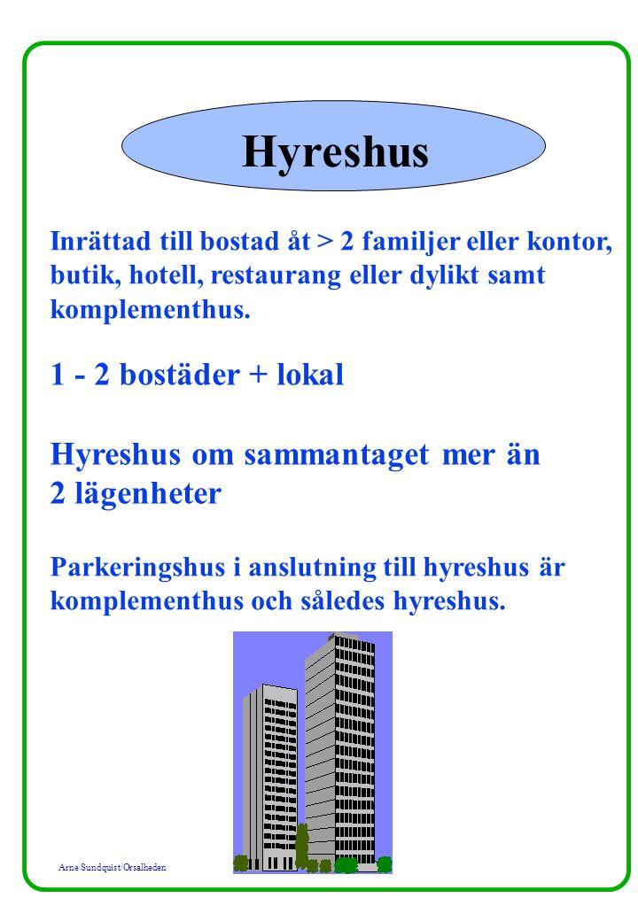 Hyreshus 1 - 2 bostäder + lokal Hyreshus om sammantaget mer än