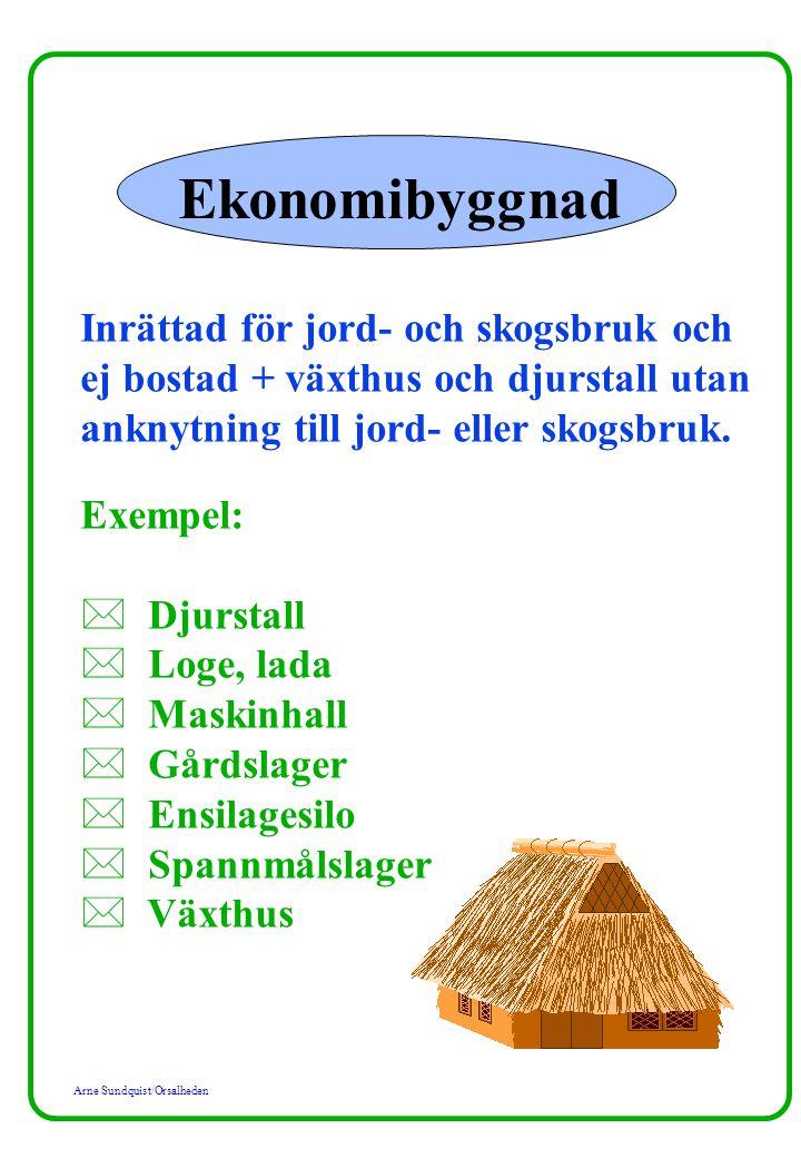 Ekonomibyggnad Inrättad för jord- och skogsbruk och