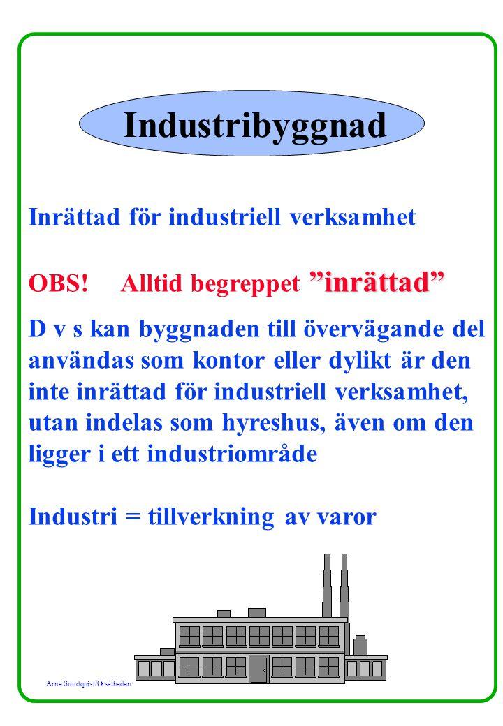 Industribyggnad Inrättad för industriell verksamhet