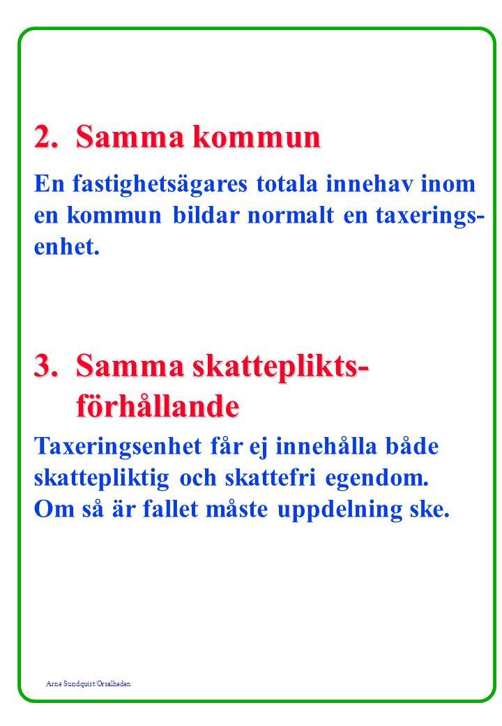 3. Samma skatteplikts- förhållande