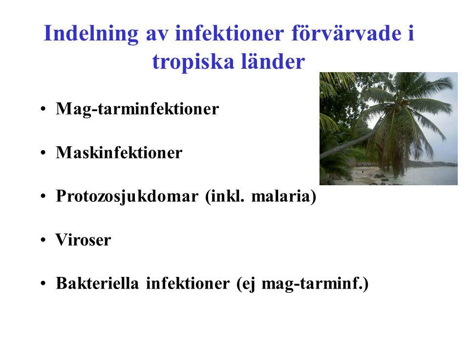 Indelning av infektioner förvärvade i tropiska länder