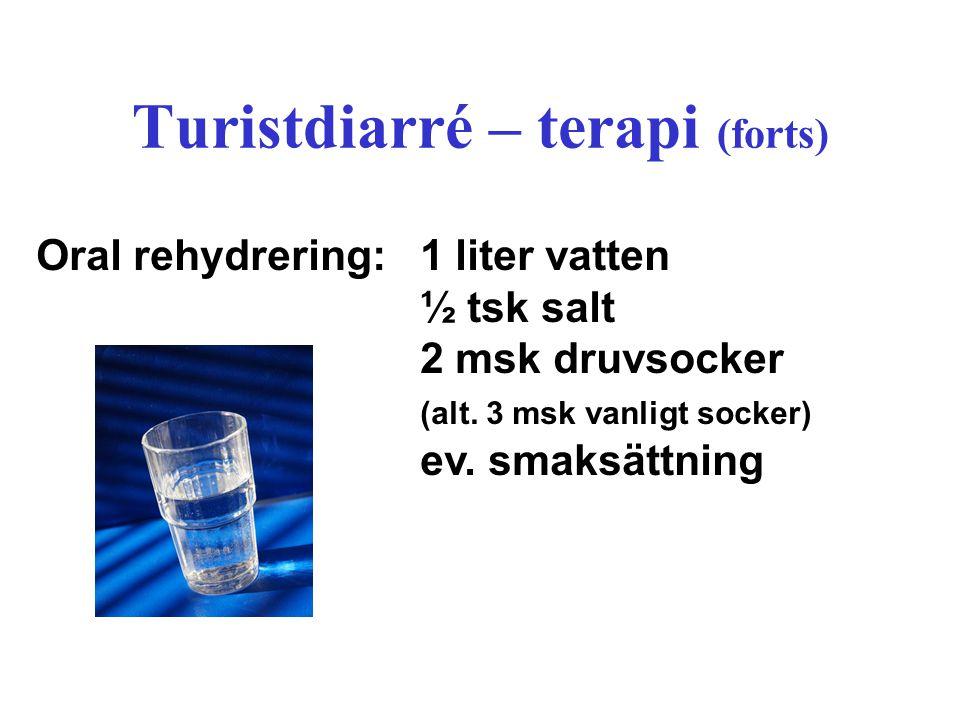 Turistdiarré – terapi (forts)