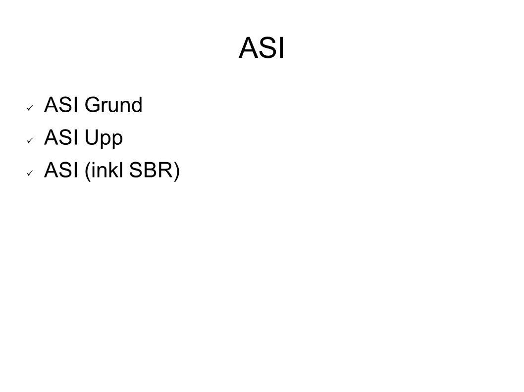 ASI ASI Grund ASI Upp ASI (inkl SBR)