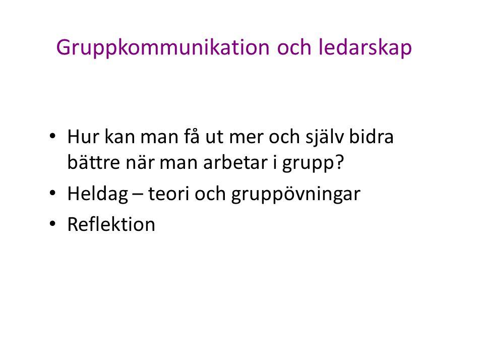 Gruppkommunikation och ledarskap