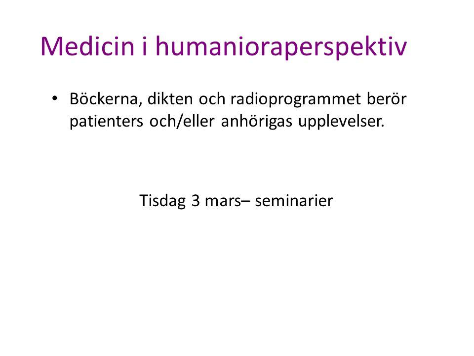Medicin i humanioraperspektiv