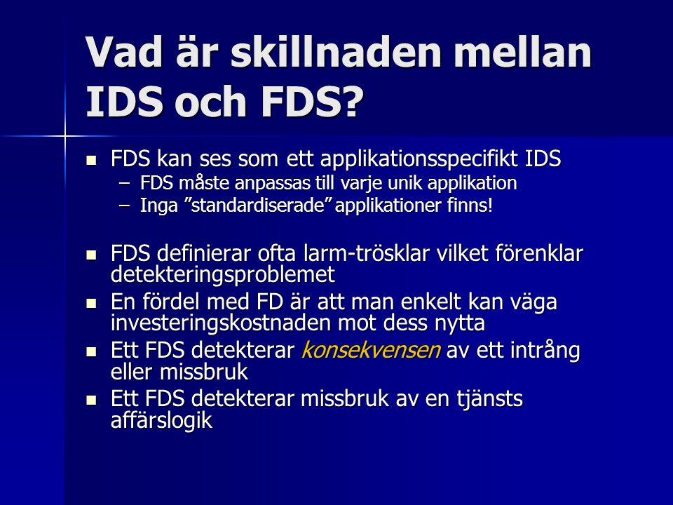 Vad är skillnaden mellan IDS och FDS