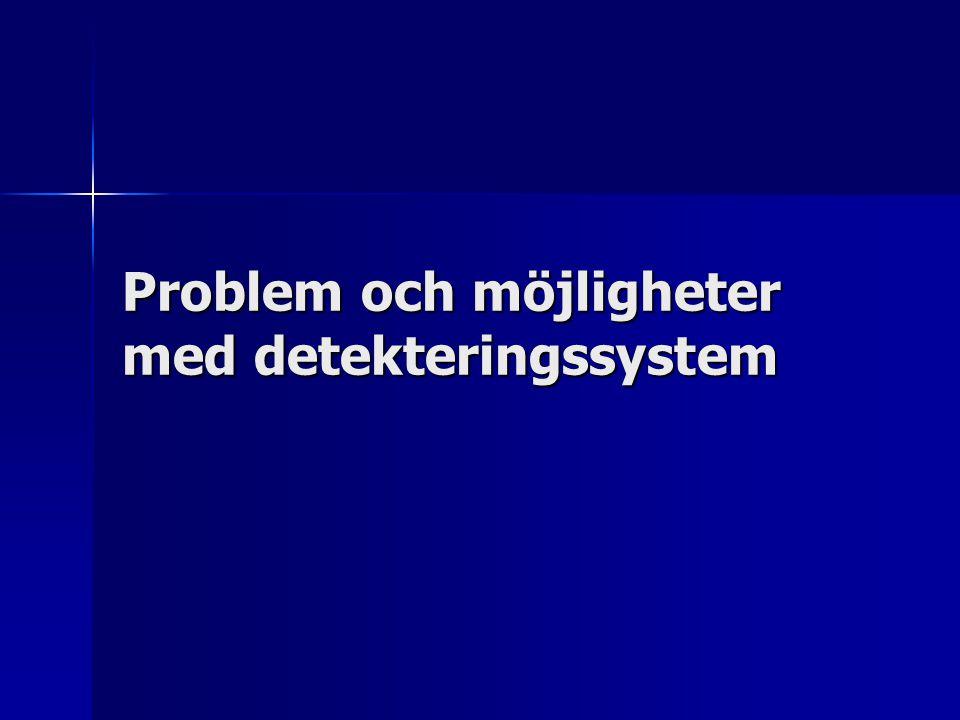 Problem och möjligheter med detekteringssystem