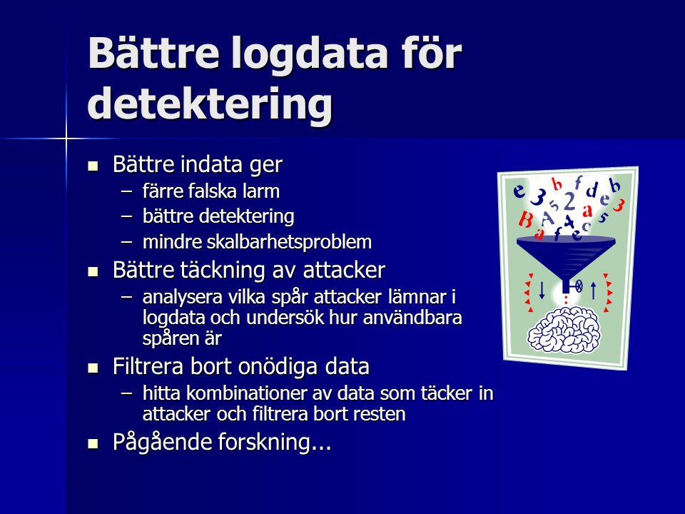 Bättre logdata för detektering